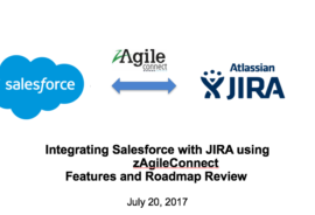 Salesforce & JIRA Integration using zAgileConnect – Webinar Jul 20, 2017