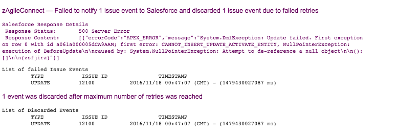 Issue Update Notifications to Salesforce in JIRA Cloud - zAgile