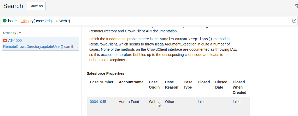 JIRA JQL Functions to search for Issues with related cases