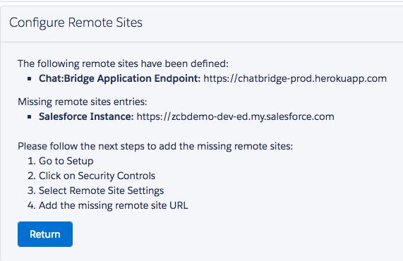 Chat:Bridge - Installation and Configuration - zAgile
