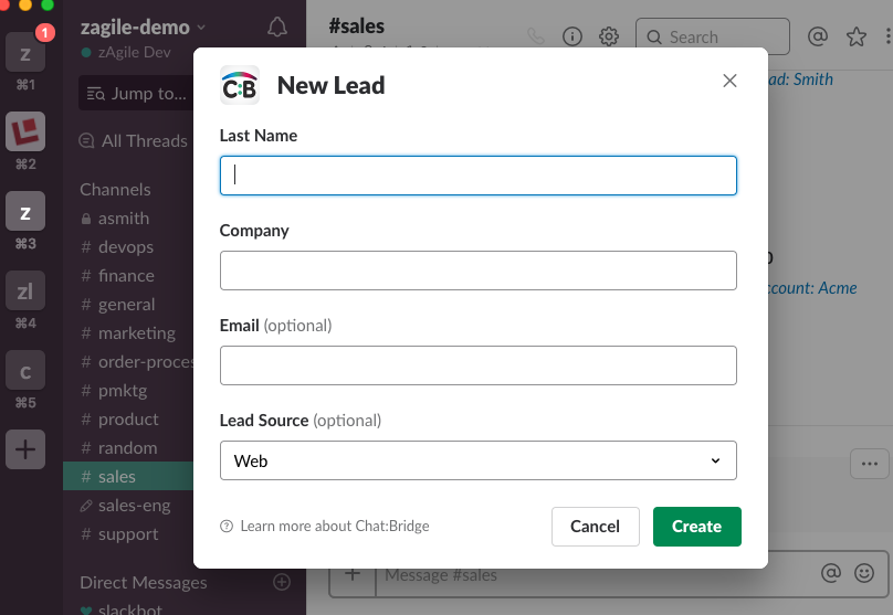 Connector for integrating Salesforce and Slack by zAgile